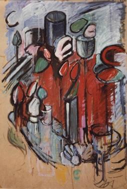 olio su carta intelata cm. 150 x 100